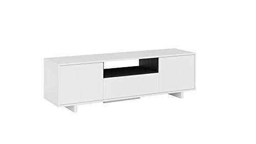 Habitdesign, Siviglia B5, Mobile Tv, Bianco, 46 x 150 x 41 cm