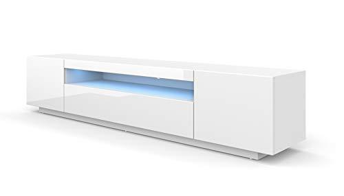 BIM Furniture LOWBOARD Solo, armadietto per TV da 200 cm, con LED, per TV, TV, credenza, RTV, TV,...