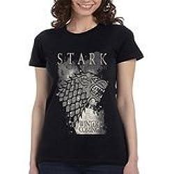 Juego de Tronos Stark invierno para mujer T shirt