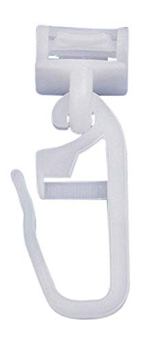 Dekondo Click Fix - Pasador de Cortinas para Pliegues de Cinta fruncidora Apto para rieles de Cortina riel de Cortina: 6 - 6,5 mm