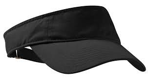 STARSTEP Men/Women Stylish Black Sun Visor Hat/Cap Adjustable for Golf Tennis Fishing Jogging Cap with Logo