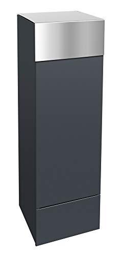 frabox Design Paketkasten Namur Edelstahl/Anthrazitgrau