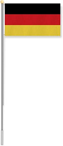 normani Fahnenmast 6,80 oder 7,50 Meter Höhe mit verschiedenen Flaggen zur Auswahl Farbe Deutschland Größe 6.2m Höhe