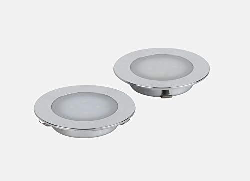 Solupa - 2x Faretto LED da Incasso Nix per Interni - Driver Integrato - ABS - IP44 - Diametro 7.20...