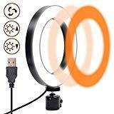 Ring Light, Gemwon Anello luminoso a LED Dimmerabile con Modalità a 3 Luci, Illuminazione Morbida...