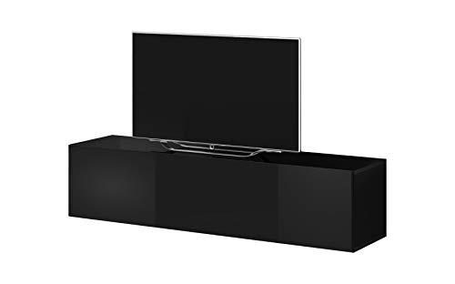 E-Com - Mobile TV Rocco, 100 cm, Colore: Nero