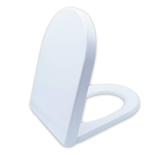 Premium WC-Sitz mit Absenkautomatik - Antibakteriell dank Duroplast - Toilettendeckel mit QuickClean Funktion - Einfacher Einbau von oben - 100{0ea6f74cb6393d62b53d76a2a41e4ce946521eb681db41acf608b4b1ee6fae23} Zufriedenheitsgarantie
