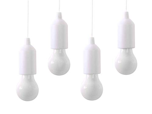 KINGESHOP lampadine da esterno Set 4 Pezzi WHITE + 12 Batterie AAA INCLUSE,handy lux, luci batteria,...