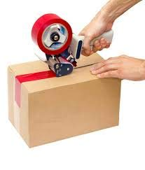 Ikon Manual Hand Operated Tape Dispenser With 2 inch PVC Transparent Tape Roll-50mm or 2 inch