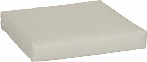 beo LKP 80x60PY200 - Cuscino per Divano, con Chiusura Lampo e Tessuto Impermeabile, 80 x 60 cm, Beige