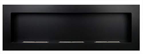 Bio Ethanol Fireplace - 1200 x 400 Black