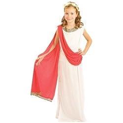 New - Disfraz de griega para niña, talla 7-9 años (37888)