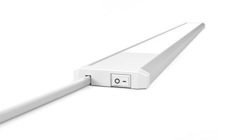 LED Küchen Unterbauleuchte 230V Mit Schalter 90cm LED Licht Leiste 15W 4000K Neutralweiß Schrankleuchte Sehr Flach