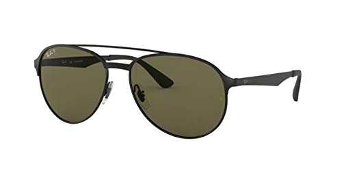 Rayban Polarized Aviator Men's Sunglasses - (8053672970401|59|Green Color Lens)