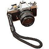 Negro oneknot algodón/cuero Cámara correa de muñeca para Sony Leica Fuji Canon Olympus Nikon Pentax Panasonic Samsung 2060