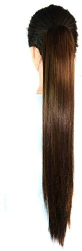 CRIBE Binding Tie up Synthetic Ribbon Ponytail Extensions One Piece Drawstring Pony Tail Long Straight Soft Silky for Women
