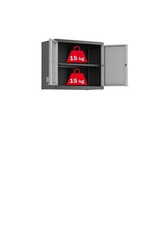Keter 9743100 Logico Pensile con 1 Ripiano, 65 X 39 X 56.5 H, Grigio, 65x39x56.5 cm