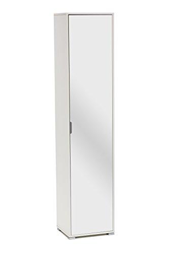 MeMi Me602SP Colonna, Legno, Bianco con Specchio, 35x44x193 cm