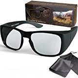 "Passive 3D Movie & TV Overglasses - fits over your prescription glasses - for RealD cinema use and passive 3D TVs such as LG ""Cinema 3D"" and Philips ""Easy 3D""- circularly polarized - with pouch and cleaning cloth"