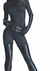 Rubies Deluxe–Disfraz de Catwoman–Disfraz de Batman el Caballero Oscuro superhéroe para Mujer