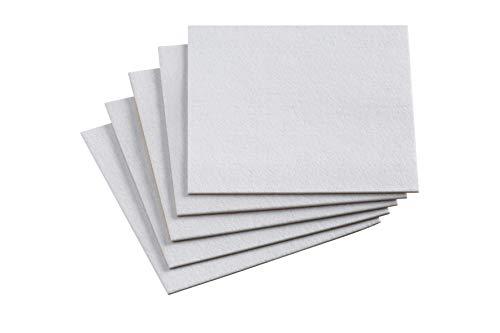 Meister 645546 - Ritaglio di feltro adesivo, 200 x 200 mm, 5 pezzi colore: bianco