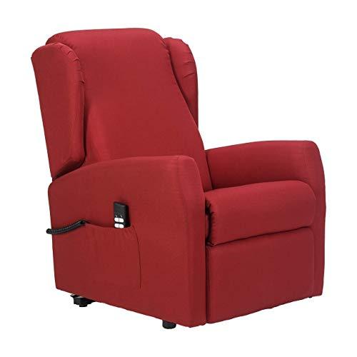 SCHIENALE ESPANSO SEMI-RIGIDOPoltrona lift 2 motori indipendenti schiena/piedi memory relax sicurezza CE Medicale DETRAIBILE 19% - Poltrona-Miriam-2M-TARED-2 Rosso scarlatto antimacchia