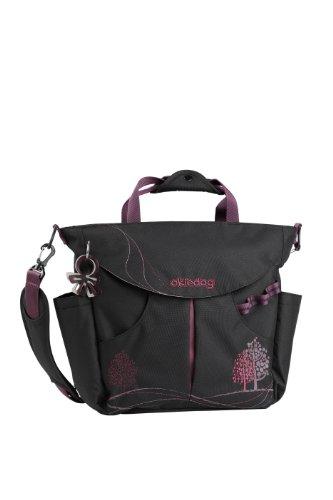okiedog SUMO 28117 borsa per pannolini/borsa per pannolini zaino incl. accessori DAHOMA, nero/porpora