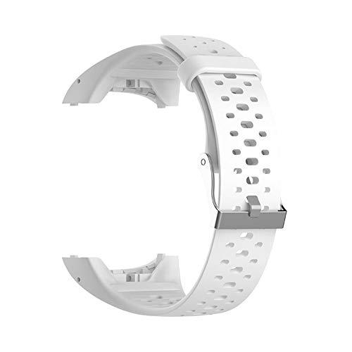 CUHAWUDBA Cinturino da Polso nel Silicone per Polar M400 M430 GPS Sport Smartwatch Cinturino di Ricambio Cinturino per Cinturino con Strumento Bianco