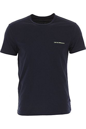Emporio-Armani-Camiseta-de-Manga-Corta-elstica-algodn-L-Turquesa