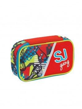 ASTUCCIO scuola SEVEN - SJ BOY - QUICK CASE - pennarelli matite gomma ecc.. Rosso Giallo