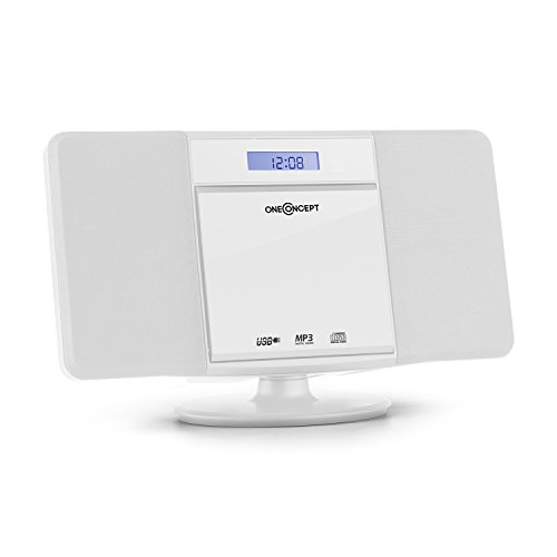 oneConcept V-13-BT • mini impianto stereo compatto • Bluetooth • lettore CD MP3 • display...