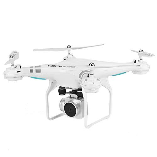 Telecamera WiFi FPV HD, Quadricottero RC, Best Drone per Principianti con Altitude Hold, Controllo Vocale, Volo a Traiettoria, 3D Flip, Modalità Senza Testa, Operazione One Key,White,Withoutcamera