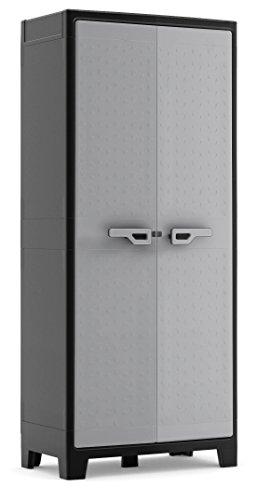 Keter 9761000 Armadio MULTISPAZIO EVOCA Titan Grigio KIS, 80x44x182 cm