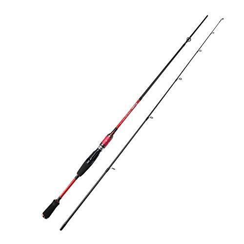 Small Lake Colore Rosso 1.8m / 2.1m M Power Light 99% Canna da Pesca a Spinning in Fibra di Carbonio per Pesca con Esca Esca Peso: 7 25g Rosa 2.1m