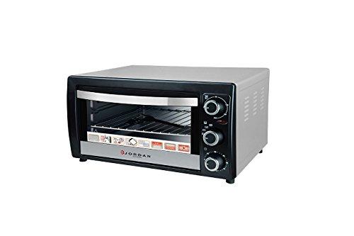 BES 24029 Forno Elettrico da Cucina, Ventilato, 1300W, Termostato, Regolabile, Acciaio Jordan, 20 lt