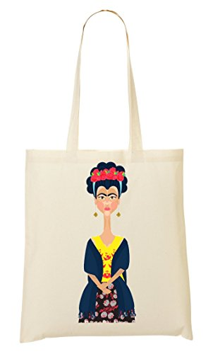 1GD Frida Kahlo Portrait Bolso De Mano Bolsa De La Compra