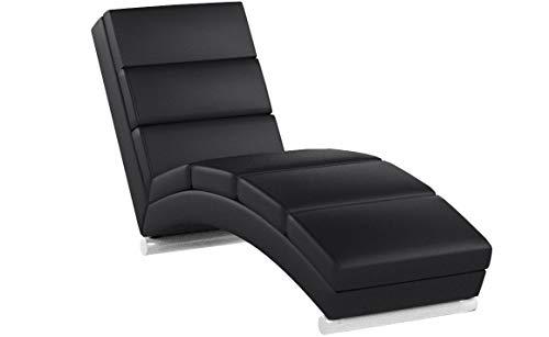 MIADOMODO Sdraio Chaise Longue - 154x51x73 cm, in Similpelle, Imbottito, 7 Cuscini di Appoggio - Lettino Relax, Sedia a Sdraio Chaise Lounge