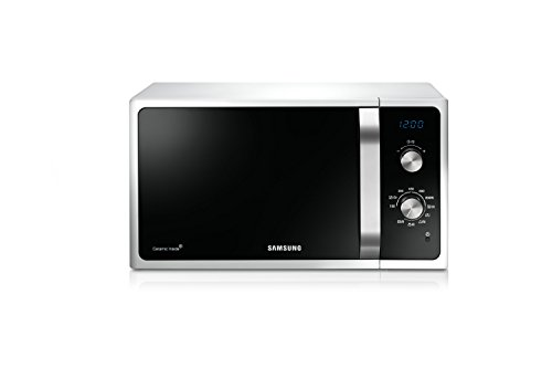 Samsung MG23F301ECW Forno a Microonde, 800 W, Grill 1100 W, Rapido Defrost, 23 Litri, Bianco