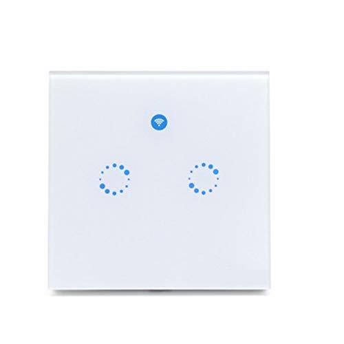 Heomeyb Smart Light Switch, WiFi Light Switch in The Wall Compatibile con Wireless Amazon Alexa e Google Assistant, Funzione di Timing, nessun hub, Facile da installare (2Gang)