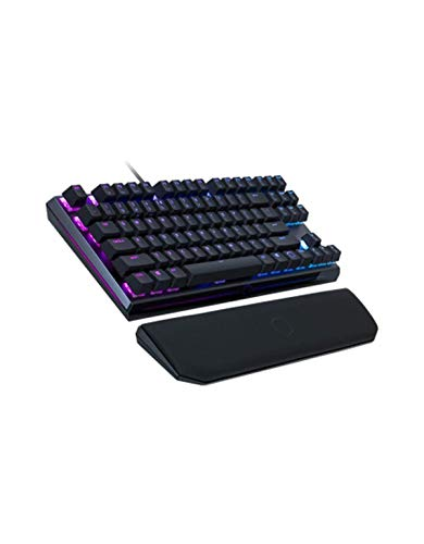 Cooler Master - MK730 - Clavier Mécanique Gaming RGB TKL - Cherry MX Red - AZERTY (PC/Consoles) Repose-Poignets Amovible - Chassis Aluminium
