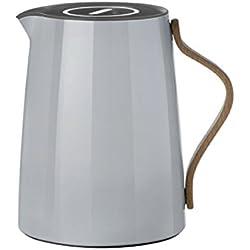 Stelton x-201-1 Emma Isolierkanne Tee, 1 L, Kunststoff, grau, 17 x 14 x 19.5 cm