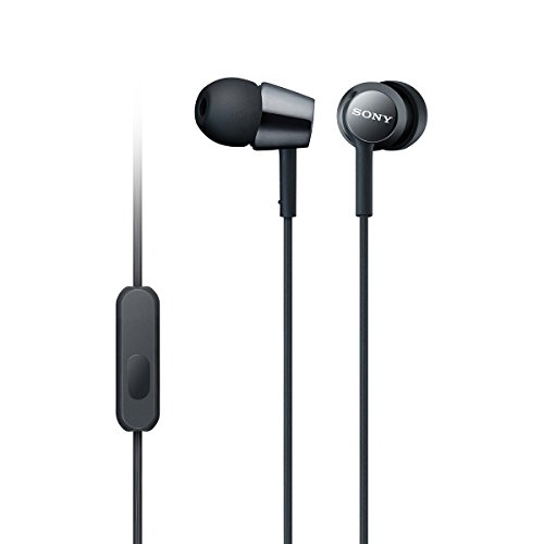 Sony MDR-EX150AP1 In-Ear Headphones with Mic (Special Black) - an Amazon Exclusive