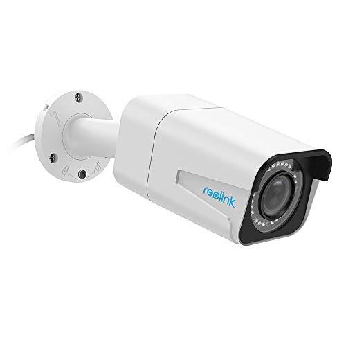 Reolink Videocamera di Sorveglianza da 5MP Super HD Zoom Ottico da 4x PoE Camera IP Impermeabile Autofocus Bullet Interno ed Esterno IR Videocamera con Visione Nottura RLC-511 (con Slot per Scheda SD)