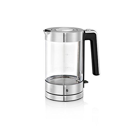 WMF Lono Wasserkocher Glas (3000 W, 1,7l, Schott Duran Glas, Kalk-Wasserfilter) cromargan matt/silber