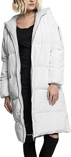 Urban Classics Ladies Oversized Hooded Puffer Coat Giubbotto, Weiß (White/Offwhite 745), X-Large Donna