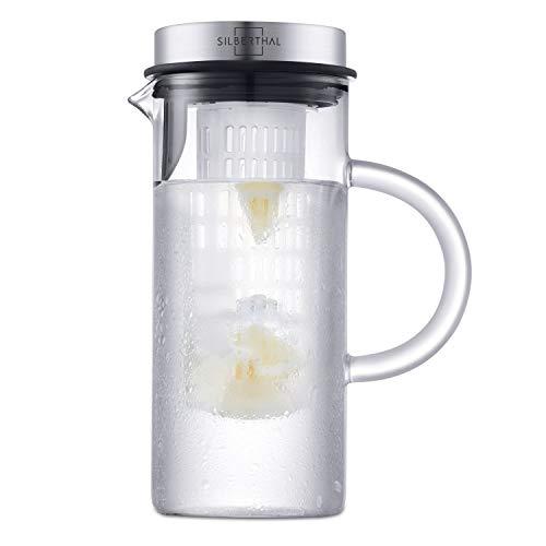 SILBERTHAL Caraffa Acqua Vetro con Tappo - Caraffa refrigerante - Brocca per Acqua - Caraffa con...