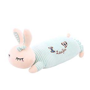 Nunca te rindas Dibujos Animados Lindo Nuevo Conejo Almohada Siesta Almohada Conejo a Rayas de Peluche de Juguete muñeca niños muñeca