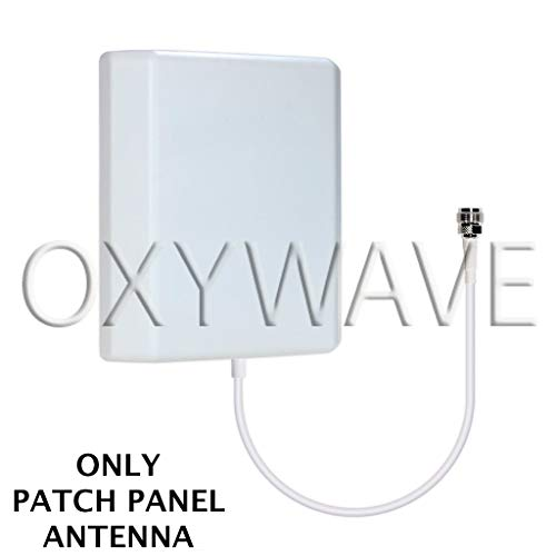 OXYWAVE® High Gain Outdoor/Indoor Wall Mount Directional Patch Panel Antenna with N-Female Connector 698 to 2700MHz 9dBi for Mobile Signal Booster - White