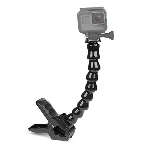 Gurmoir Regolabile Collo d'Oca Monopiede con Flex Jaws Braccio Mount Clamp per Gopro Hero 6/5/4/3 SJCAM SJ4000 / SJ5000 / SJ6000 Fotocamera e altre Action Fotocamera