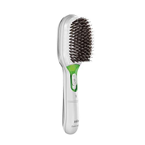 Braun Satin Hair 7 BR750 - Cepillo de pelo con cerdas naturales, alisador de pelo con tecnología...